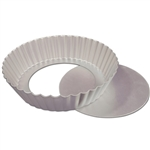"Fluted Tart Cake Pan with Removable Bottom - 8"" x 2"" baking dessert sweet treat fat daddio's"