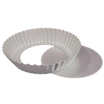 "Fluted Tart Cake Pan with Removable Bottom - 10"" x 2"" baking dessert sweet treat fat daddio's"