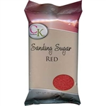 Red Sanding Sugar - 16 Ounce Bag