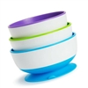 Munchkin Stay-Put Suction Bowls - 3 Pack
