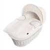 Isabella Alicia White Wicker Cream Dimples Moses Basket