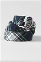 Lands' End Girl's White Plaid Belt