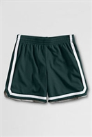 Lands' End Girls Green with White Stripe Gym Shorts