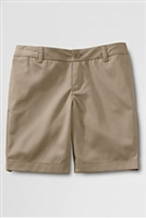 Lands' End Khaki Shorts: Girl's Flat Front