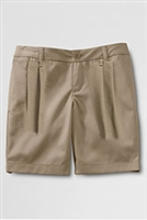 Lands' End Khaki Shorts: Girl's Pleated