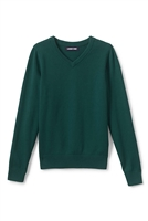 Land's End Fine Gauge V-neck Sweater