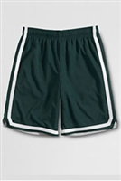 Lands' End Boy's Green Gym Shorts with White Stripe