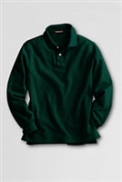Lands' End Polo Shirt - Long Sleeve, Green Mesh