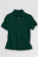 Lands' End Polo Shirt - Short Sleeve, Green Mesh