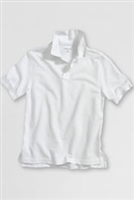 Lands' End Polo Shirt - Short Sleeve, White Mesh