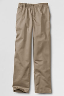 Lands' End Khaki Pants: Boys Full Elastic Waist