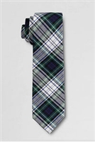 Lands' End Tie: White Plaid