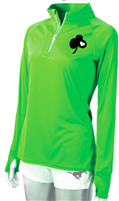 SKPS 1/4 Zip Bling - Ladies Lime