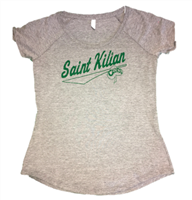 Ladies Scoop Tri-Blend Tee - Green Logo