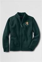 Lands' End Zip Cardigan Drifter Sweater with Logo