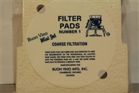 BV MINI JET FILTER PADS # I - 3/PK COARSE