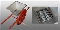 Manual Double Roller Crusher W/ Stainless Steel Hopper & 21X24 blades