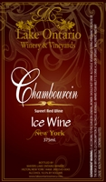 Lake Harvest Chambrolin Ice Wine