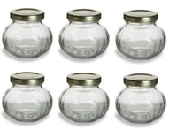 4 OZ ROUND JARS W/LED 24/CS