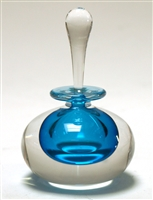 Mary Angus Squat Turquoise Glass  perfume Bottle