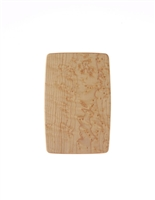 "Ed Wohl 5 1/2"" x 8 1/2"" Bird's Eye Maple Pate Board with Maple Spreader"
