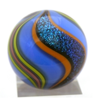 "Geoffrey Beetem Ziggy Stardust  1 1/2"" Dutch Blue Marble"