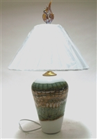 Gartner Blade White Sage Hand Blown Glass Table Lamp