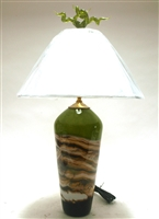 Gartner Blade Green Strata Hand Blown Glass Table Lamp