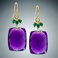 Judy Bliss Amethyst and green Onyx Earrings