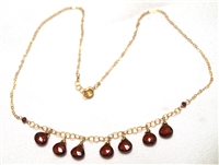 Judy Brandon 7 Briolette Garnet Necklace