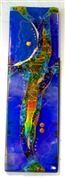 Karen Ehart Cobalt Fused Glass Wall Sculpture