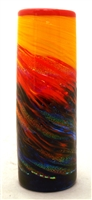 Michael Maddy and Rina Fehrensen Hand Blown Glass Sunset Small Cylinder Vase