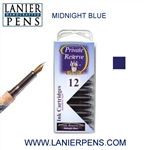 Private Reserve Midnight Blues 12 Pack Cartridge Fountain Pen Ink C15 - Lanier Pens