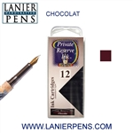 Private Reserve Chocolat 12 Pack Cartridge Fountain Pen Ink C32 - Lanier Pens
