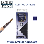 Private Reserve DC Electric Blue 12 Pack Cartridge Fountain Pen Ink C37 - Lanier Pens