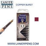 Private Reserve Copper Burst 12 Pack Cartridge Fountain Pen Ink C05 - Lanier Pens