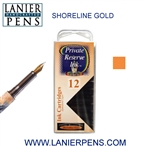 Private Reserve Shoreline Gold 12 Pack Cartridge Fountain Pen Ink C22 - Lanier Pens