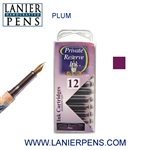 Private Reserve Plum 12 Pack Cartridge Fountain Pen Ink C08 - Lanier Pens