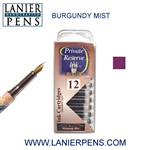 Private Reserve Burgundy Mist 12 Pack Cartridge Fountain Pen Ink C26 - Lanier Pens