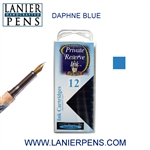 Private Reserve Daphne Blue 12 Pack Cartridge Fountain Pen Ink C20 - Lanier Pens