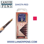 Private Reserve Dakota Red 12 Pack Cartridge Fountain Pen Ink C29 - Lanier Pens