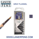 Private Reserve Gray Flannel 12 Pack Cartridge Fountain Pen Ink C14 - Lanier Pens