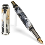 Baron Fountain Pen - Black Pearl