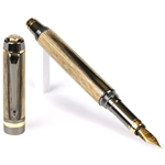 Elite Fountain Pen - Black & White Ebony