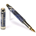 Elite Fountain Pen - Blue Box Elder