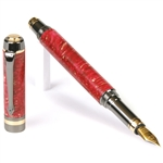 Elite Fountain Pen - Red Box Elder