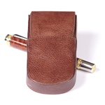 Aston Leather Pen Box Round – Brown Triple