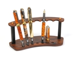 Rosewood and Ebony Upright Pen Stand - 7 Pen