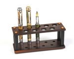 Rosewood & Ebony Upright Pen Stand - 9 Pen