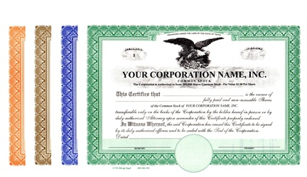 Corporation Stock Certificates
